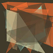 Lemans Polygon Pattern Art Print