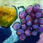 Lemon And Grapes Art Print