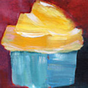 Lemon Cupcake- Art By Linda Woods Art Print