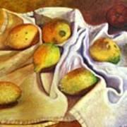 Lemons And Linen Art Print
