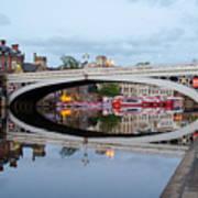 Lendal Bridge Reflection  Art Print