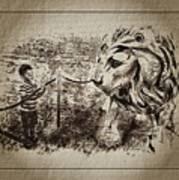 L'enfant Et Le Lion  Art Print