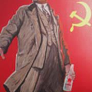 Lenin Gets Bolshi After A Bevi Art Print