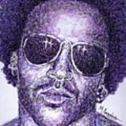 Lenny Kravitz Art Print by Maria Arango