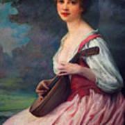 Lenoir Charles La Mandoline Art Print