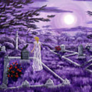 Lenore In Lavender Moonlight Art Print