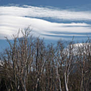 Lenticular Clouds - White Mountains New Hampshire  Art Print