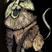 Leo, Rampant -- Negative Sepia Art Print