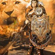 Leona Lioness Warrior  Art Print