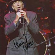 Leonard Cohen Autographed Art Print