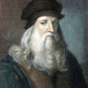 Leonardo Da Vinci - To License For Professional Use Visit Granger.com Art Print