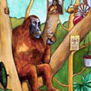 Leonardo The Orangutan Art Print