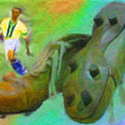 Leonidas And Soccer Shoes Art Print