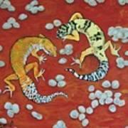 Leopard Geckos Art Print