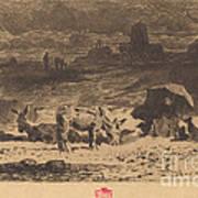 Les Anes De La Butte-aux-cailles (donkeys At La Butte-aux-cailles) Art Print