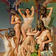 Les Demoiselles 4 Art Print