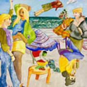 Les Demoiselles Of Santa Cruz V4 Art Print by Susan Cafarelli Burke