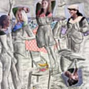 Les Demoiselles Of Santa Cruz V8 Art Print