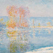 Les Glacons. Bennecourt Art Print