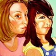 Les Meilleures Amies   Hanna And Yasmine Art Print