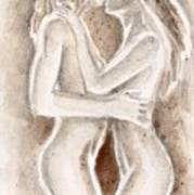 Lesbians Kissing Art Print