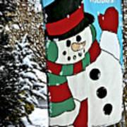 Let It Snow - Happy Holidays Art Print