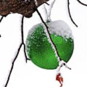 Let It Snow Christmas Ornament Art Print