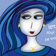 Let Not Your Heart Be Troubled Art Print