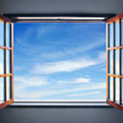 Let The Blue Sky In Art Print