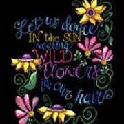 Let Us Dance Two Art Print