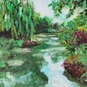 L'etang De Claude Monet, Giverny, France Art Print