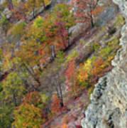Letchworth Falls State Park Fall Colors Art Print