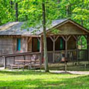 Letchworth State Park Cabin Art Print