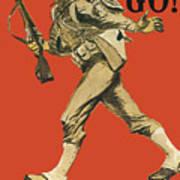 Let's Go - Vintage Marine Recruiting Art Print