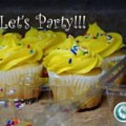 Let's Party Cupcakes Art Print