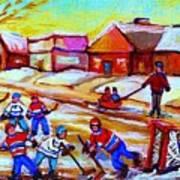 Lets Play Hockey Art Print