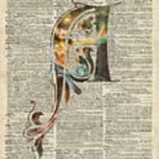 Letter A Monogram Art Print