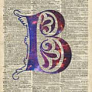 Letter B Monogram Art Print