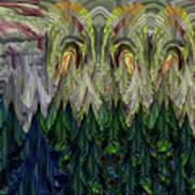 Lettuce Greens Radish Forest Art Print