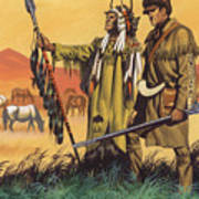 Lewis And Clark Expedition Scene Art Print