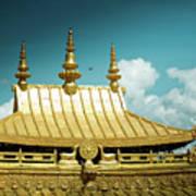 Lhasa Jokhang Temple Fragment Tibet Artmif.lv Art Print
