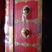Lhasa Temple Door Art Print
