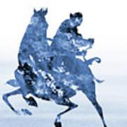 Li Shang-blue Art Print