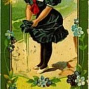 Libbys Bookmark Vintage With Girl On Beach Art Print