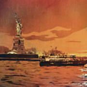 Liberty Island- New York Art Print