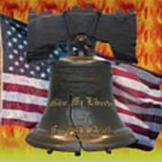 Liberty On Fire Art Print