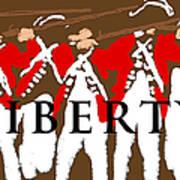 Liberty Revolution Brown Art Print