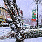 Liberty Square In Winter Art Print