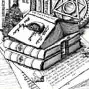 Library Book Fairy House Art Print