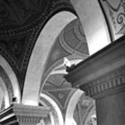 Library Of Congress 3 Black And White Art Print
